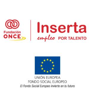 Logo de la ONCE y la fundacion Inserta